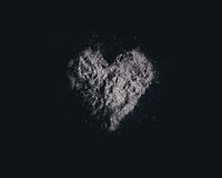 Heart and ashes Stock Photos