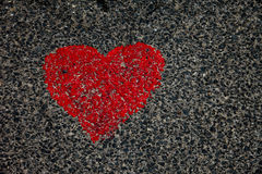 Heart On Asphalt. Background, Structure and texture royalty free stock image