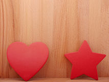 Heart and asterisk. Stock Image