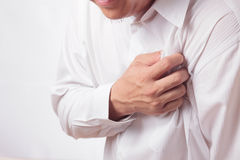 Heart Attack. Man having a heart attack Stock Photography