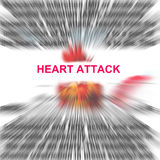 Heart attack. In a radial blur background abstract royalty free stock photography