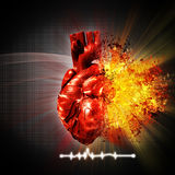 Heart attack. Abstract medical and health care backgrounds Royalty Free Stock Photography