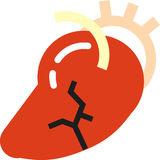 Heart attack. Stylized heart attack icon with veins and arteries Royalty Free Stock Photos