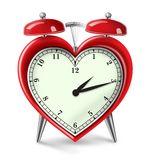 Heart Attack Alarm. Digital illustration of Heart Shaped Alarm Clock to warn the dangers of Heart Disease stock illustration
