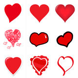 Heart Attack. Collection of vector designed hears ranging from a standard heart to hand-drawn, to crayon, to vector illustrated Stock Photo
