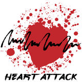 Heart attack creative cardiology logo Stock Photo