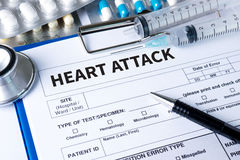 HEART ATTACK disease symptoms, medical Heart Attack Signs and Sy Royalty Free Stock Photography