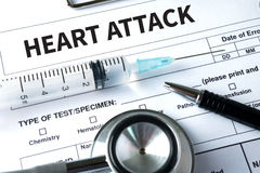HEART ATTACK disease symptoms, medical Heart Attack Signs and Sy Stock Image