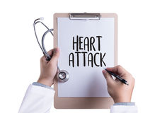 HEART ATTACK disease symptoms, medical Heart Attack Signs and Sy Royalty Free Stock Image
