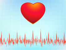 Heart attack electrocardiogram-ecg. EPS 8 Stock Images