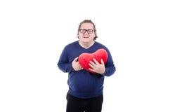 Heart attack at the fat guy. Royalty Free Stock Photos