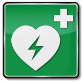 Heart attack and first aid. Danger heart attack and first aid Stock Photography
