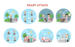 Heart attack infographic. Royalty Free Stock Photos