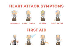 Heart attack infographic. Royalty Free Stock Photography