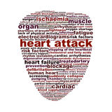 Heart attack medical symbol concept. Heart disease medical words icon design Stock Photos