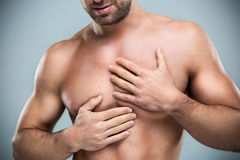 Heart-attack pain Stock Images