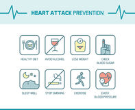 Heart attack prevention tips Royalty Free Stock Image