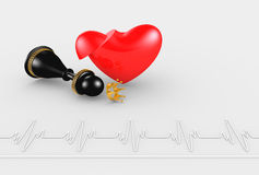Heart attack - queen Stock Photography