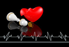 Heart attack, queen Royalty Free Stock Images