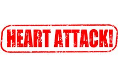 Heart attack! red stamp. On white background Royalty Free Stock Image