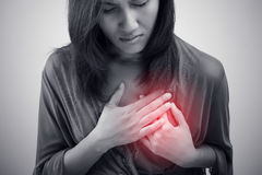 Heart attack symptom. Isolate on white background royalty free stock image