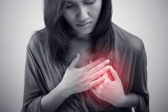 Heart attack symptom Royalty Free Stock Image