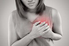 Heart attack symptom. On white background royalty free stock photography
