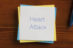 Heart Attack written on a note Royalty Free Stock Photos