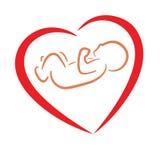 Heart and baby symbol Royalty Free Stock Photos