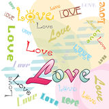 Heart backgrond with banner Stock Photo