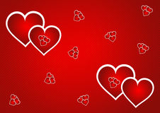 Heart background. Retro heart background in red color eps Stock Images