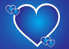 Heart background. Retro heart background in blue color eps Stock Images