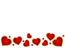 Heart background. Red heart in white color background eps Royalty Free Stock Photography
