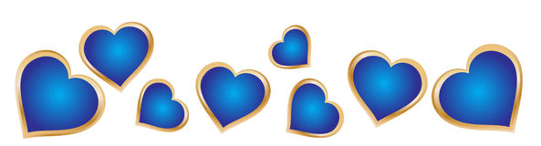 Heart background. Blue heart in white color background eps Royalty Free Stock Photography