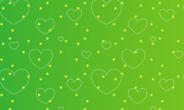 Heart background. Illustration drawing of seamless heart pattern in green background Royalty Free Stock Images