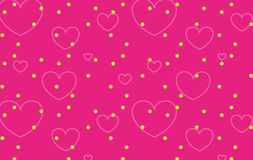 Heart background. Illustration drawing of seamless heart pattern in red background Royalty Free Stock Images