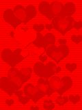 Heart Background. Hearts all in red, good for background design stock illustration