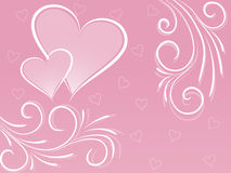 Heart background. The pink background with hearts Stock Photo