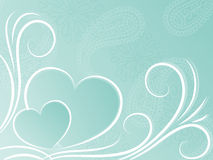 Heart background. The blue background with hearts Stock Image