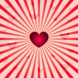 Heart background. Retro valentine background with hearts and circles Royalty Free Stock Photography