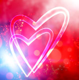 Heart background stock illustration