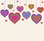 heart background. Royalty Free Stock Photo