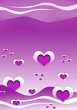 Heart background. Abstract heart background/wallpaper illustration Stock Image
