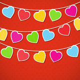 Heart background. Valentine's Day background with hearts Stock Photos