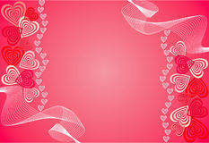 Heart background. Illustration Stock Photography