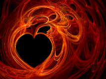 Heart background. Fractal computer generated heart background Royalty Free Stock Photos