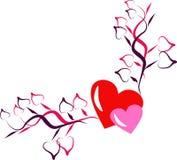 Heart background. Illustration of heart background for valentine Stock Photo