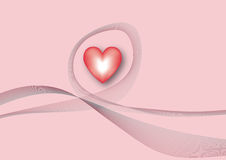 Heart background. Valentine heart background, Vector illustration Stock Photography