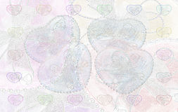 Heart background. Heart beautiful color wite soft  background Royalty Free Stock Photography