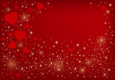 Heart background design Stock Image